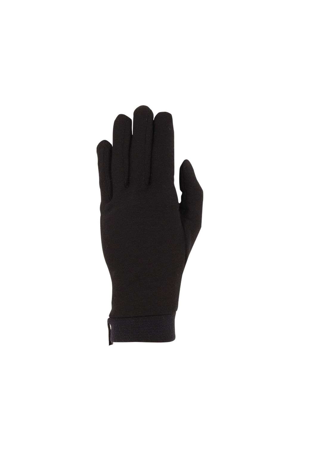 Macpac Merino Liner Gloves, Black, hi-res