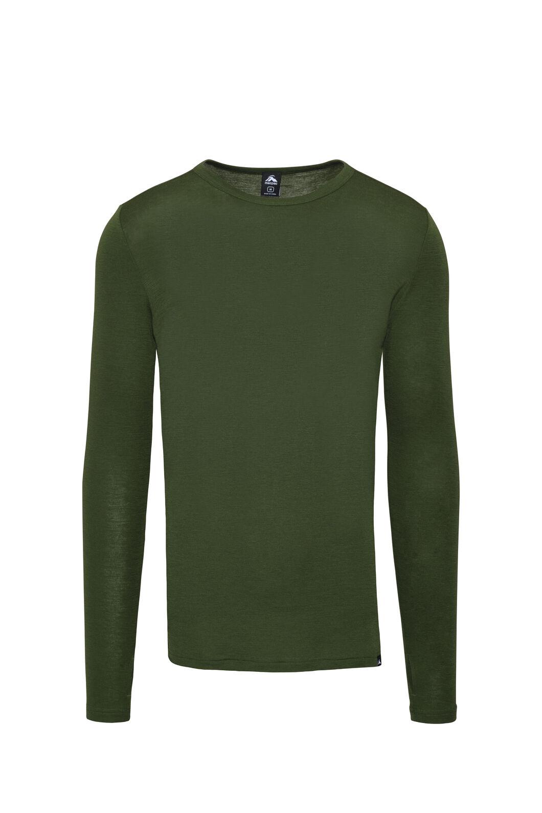 Macpac 220 Merino Long Sleeve Top — Men's, Chive, hi-res