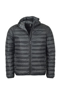 Macpac Uber Hooded Down Jacket - Men's, Black, hi-res