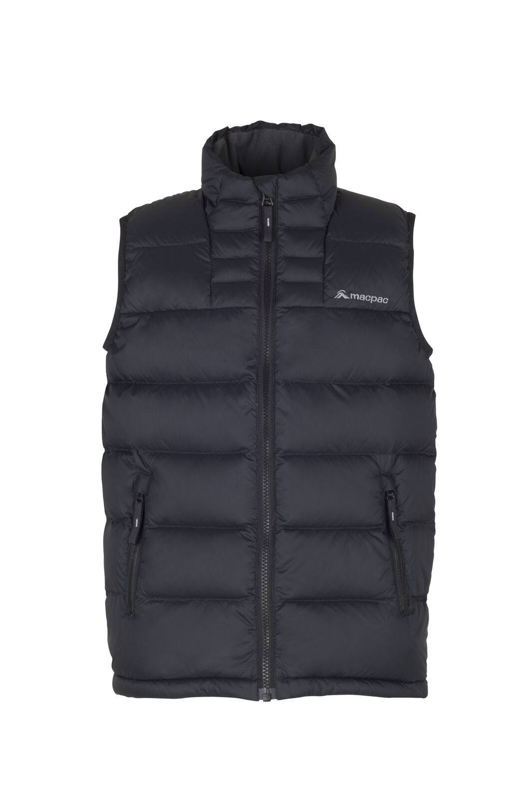 Macpac Atom Down Vest - Kids', Black, hi-res
