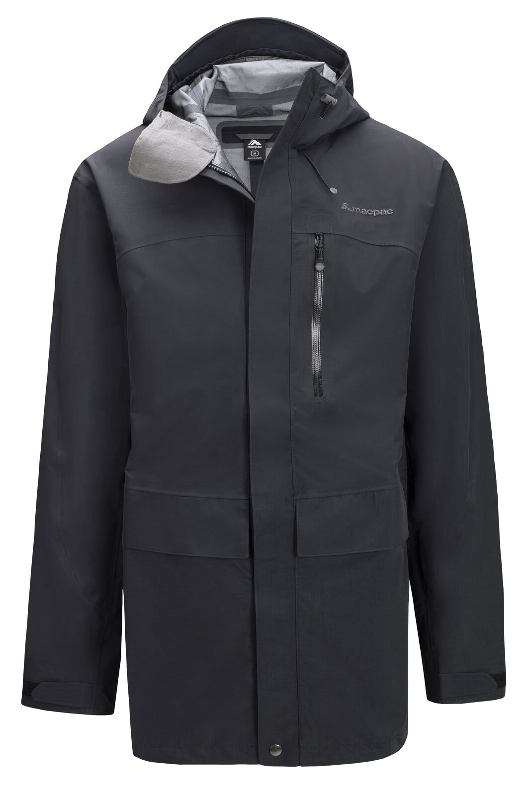 Macpac Men's Resolution Pertex® Rain Jacket, Black, hi-res
