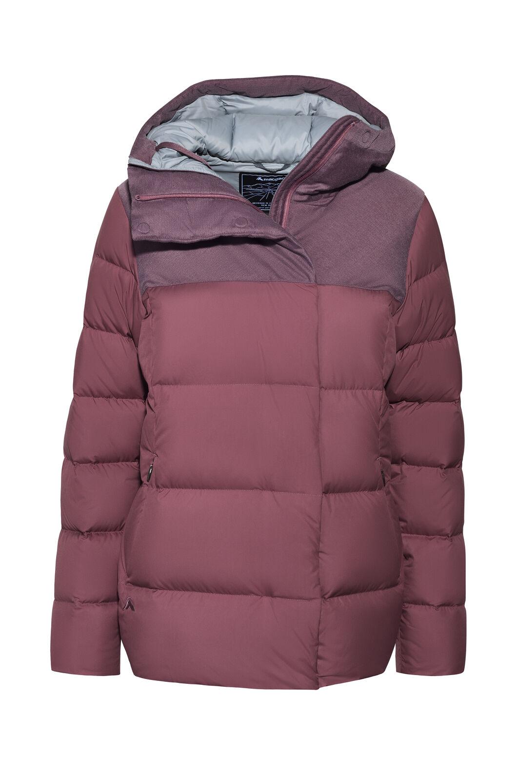 Macpac Novo Hooded Down Jacket — Women's, Rose Brown, hi-res