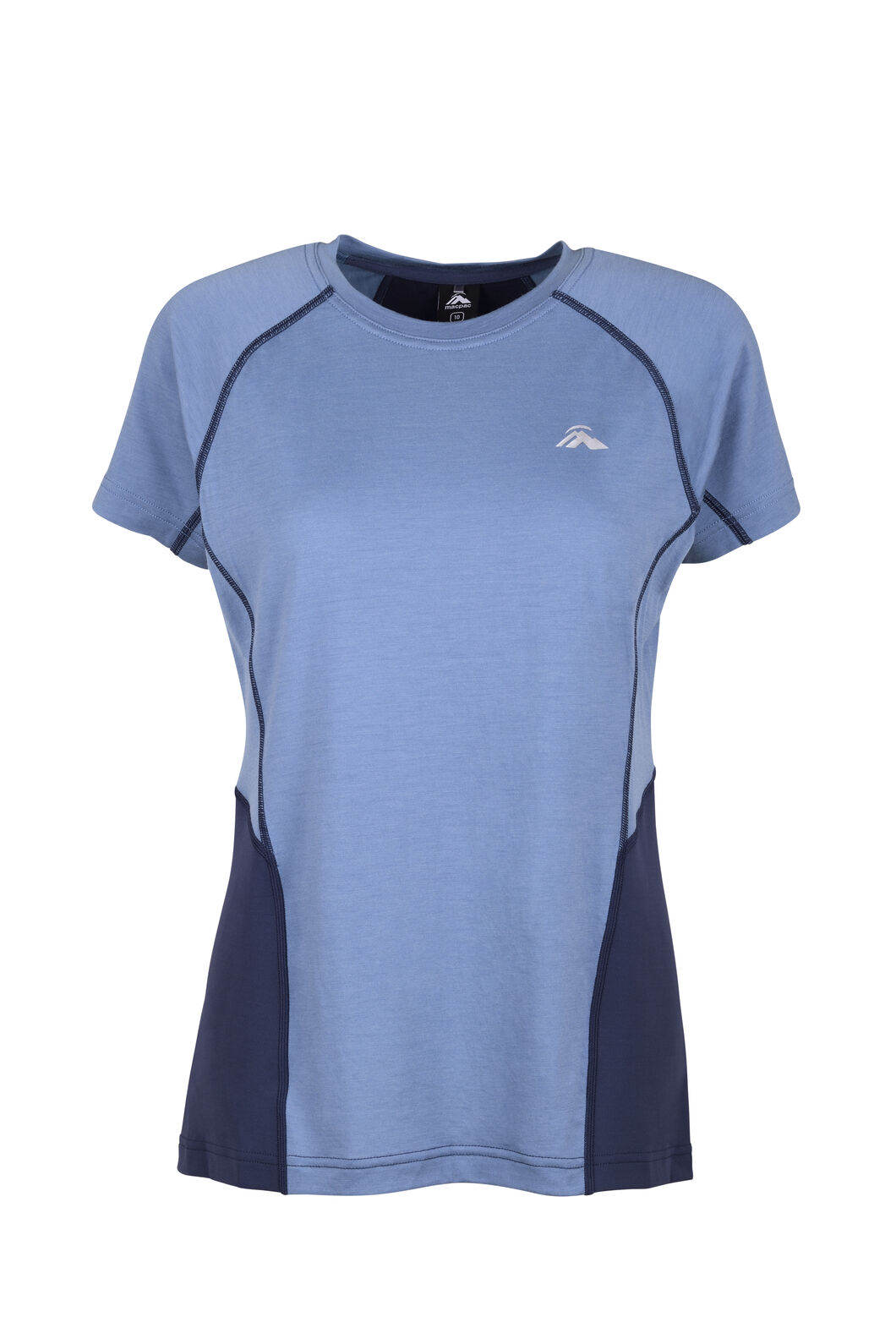 Macpac Casswell Short Sleeve Crew — Women's, China Blue/Mood Indigo, hi-res