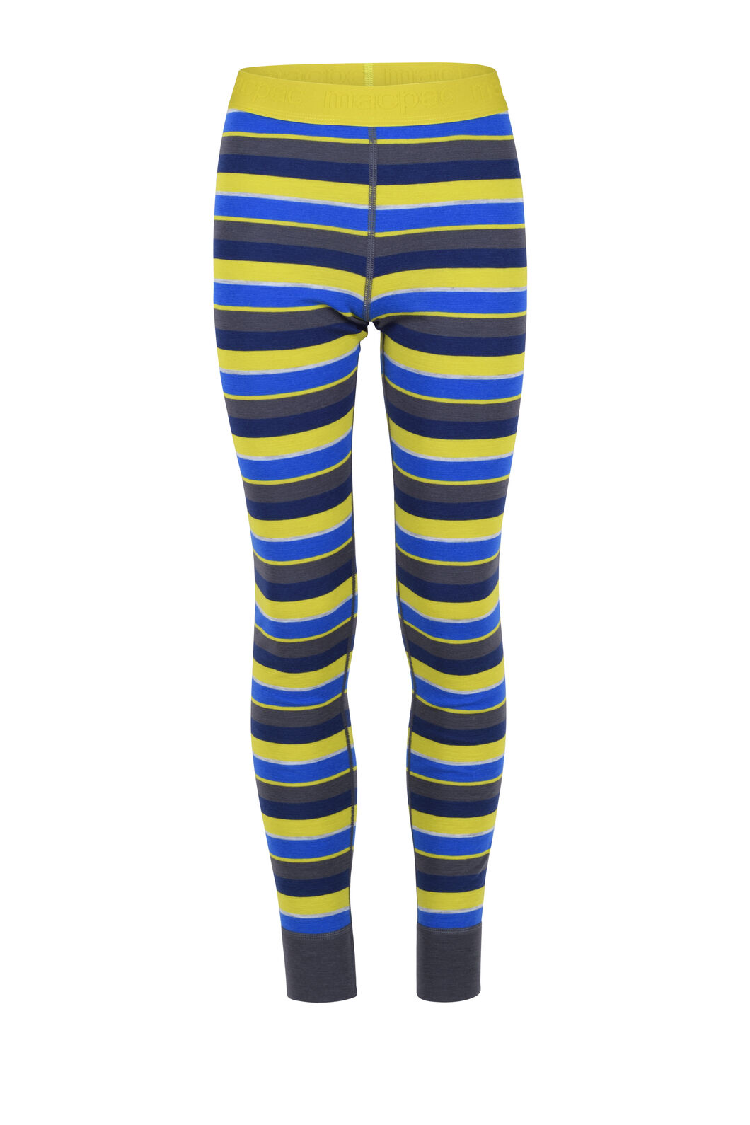 Macpac 220 Merino Long Johns - Kids', Blue Depths Stripe, hi-res