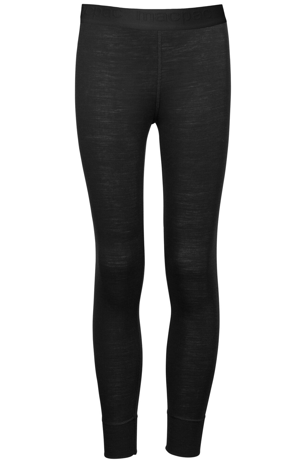 Macpac 220 Merino Long Johns — Kids', Black, hi-res