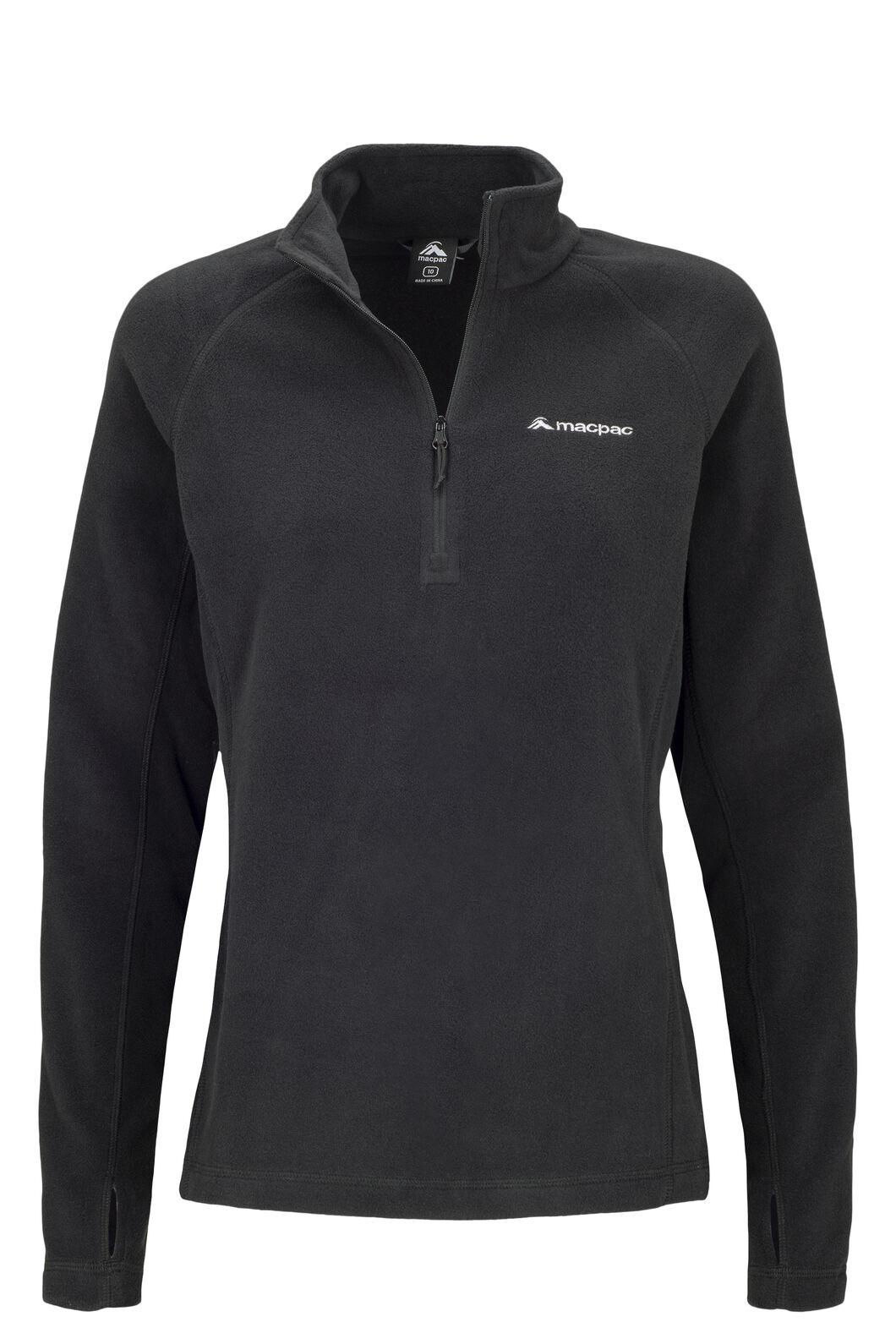 Macpac Women's Tui Polartec® Micro Fleece® Pullover, Black, hi-res