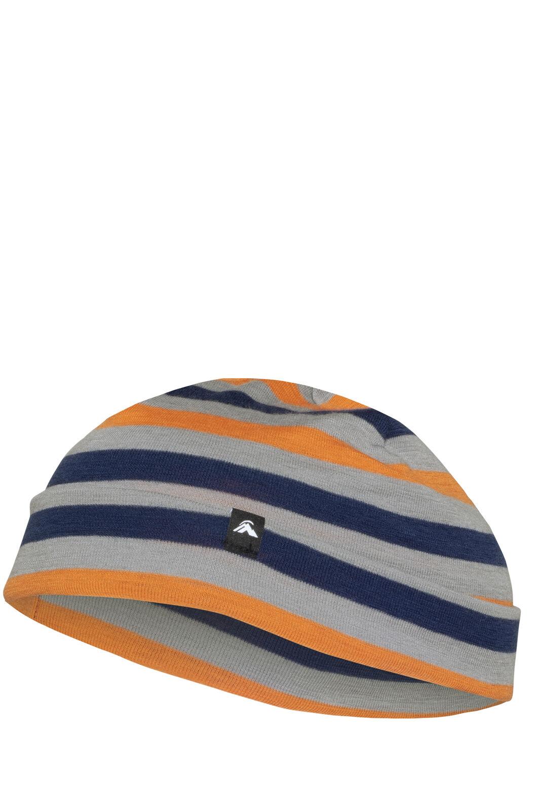 Macpac 220 Merino Beanie — Kids', Blueprint Stripe, hi-res