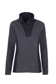 Macpac Club Field Fleece - Women's, Black/Asphalt, hi-res