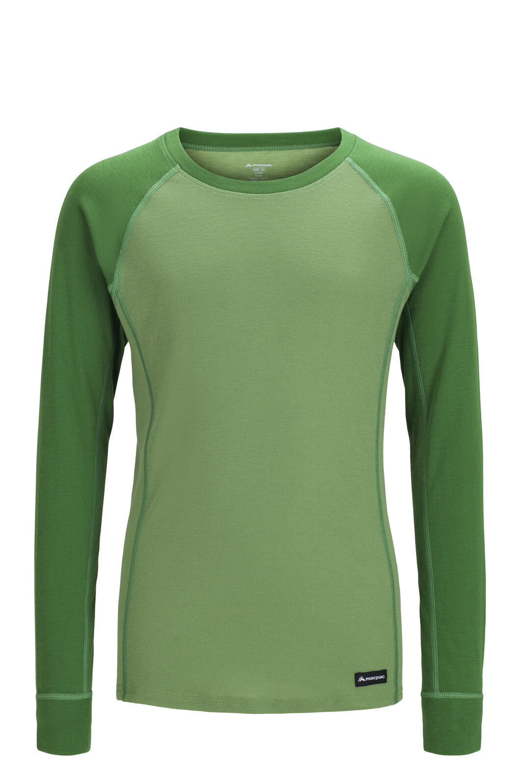 Macpac Geothermal Long Sleeve Top — Kids', Juniper/Jade Green, hi-res