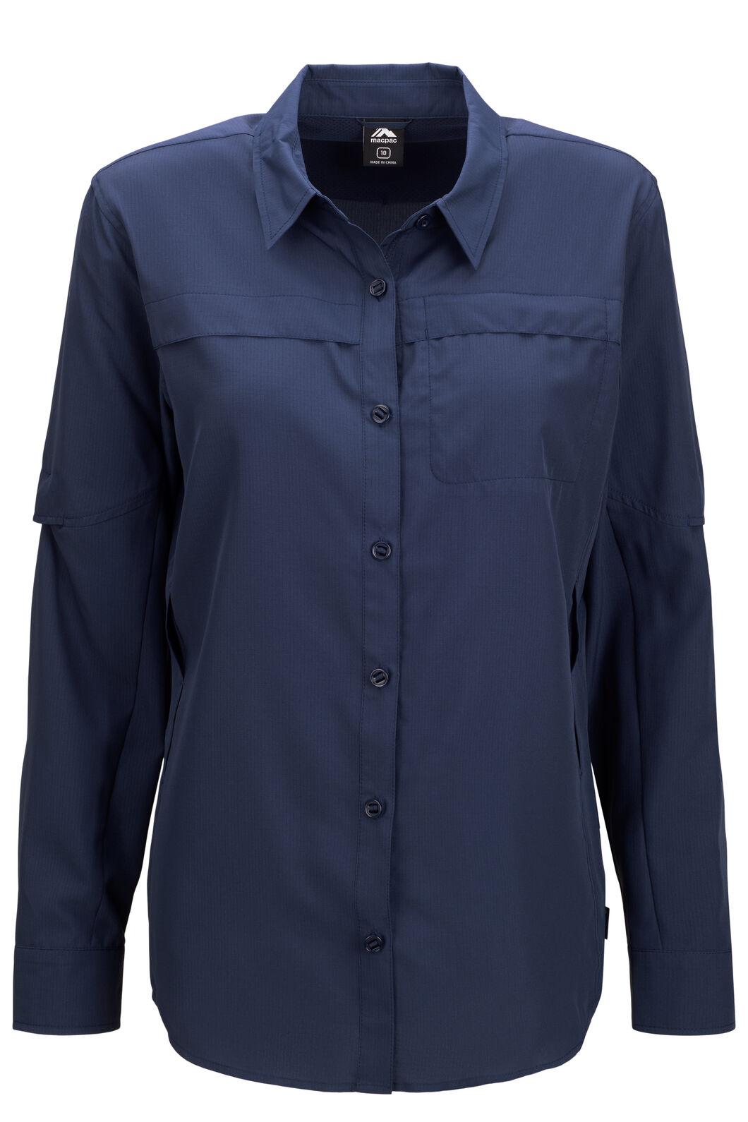Macpac Women's Ranger Long Sleeve Shirt, Navy Iris, hi-res