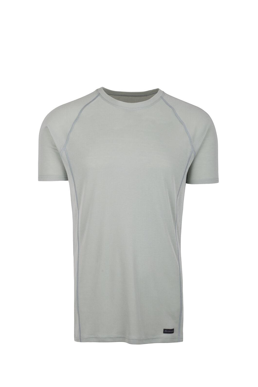 Macpac Geothermal Short Sleeve Top - Men's, Aqua Gray, hi-res