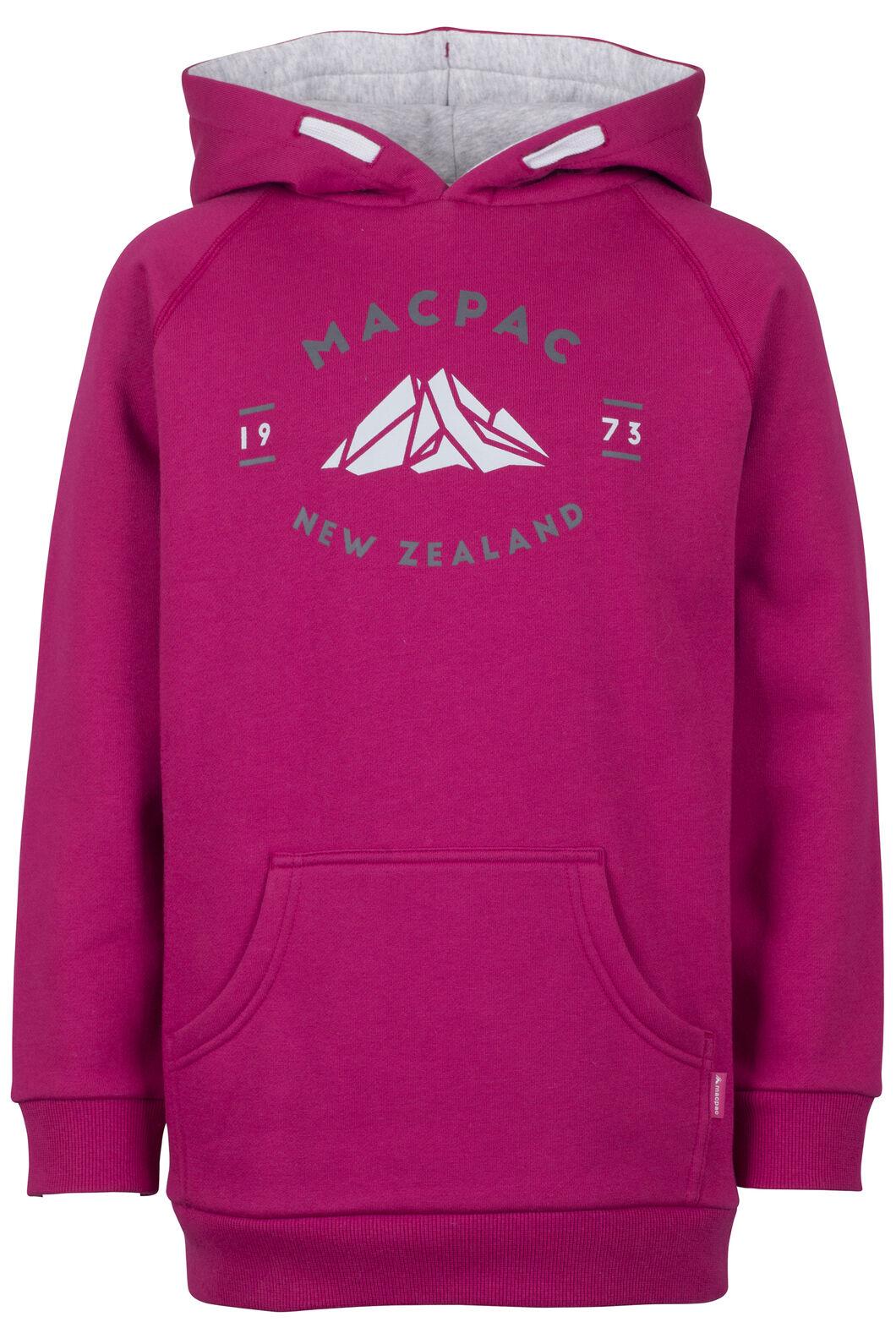 Macpac Organic Mountain Hoody - Kids', Sangria, hi-res