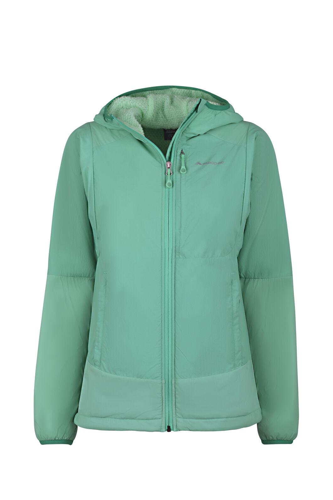 Macpac Pisa Polartec® Hooded Jacket - Women's, Turquoise/Beach Glass, hi-res