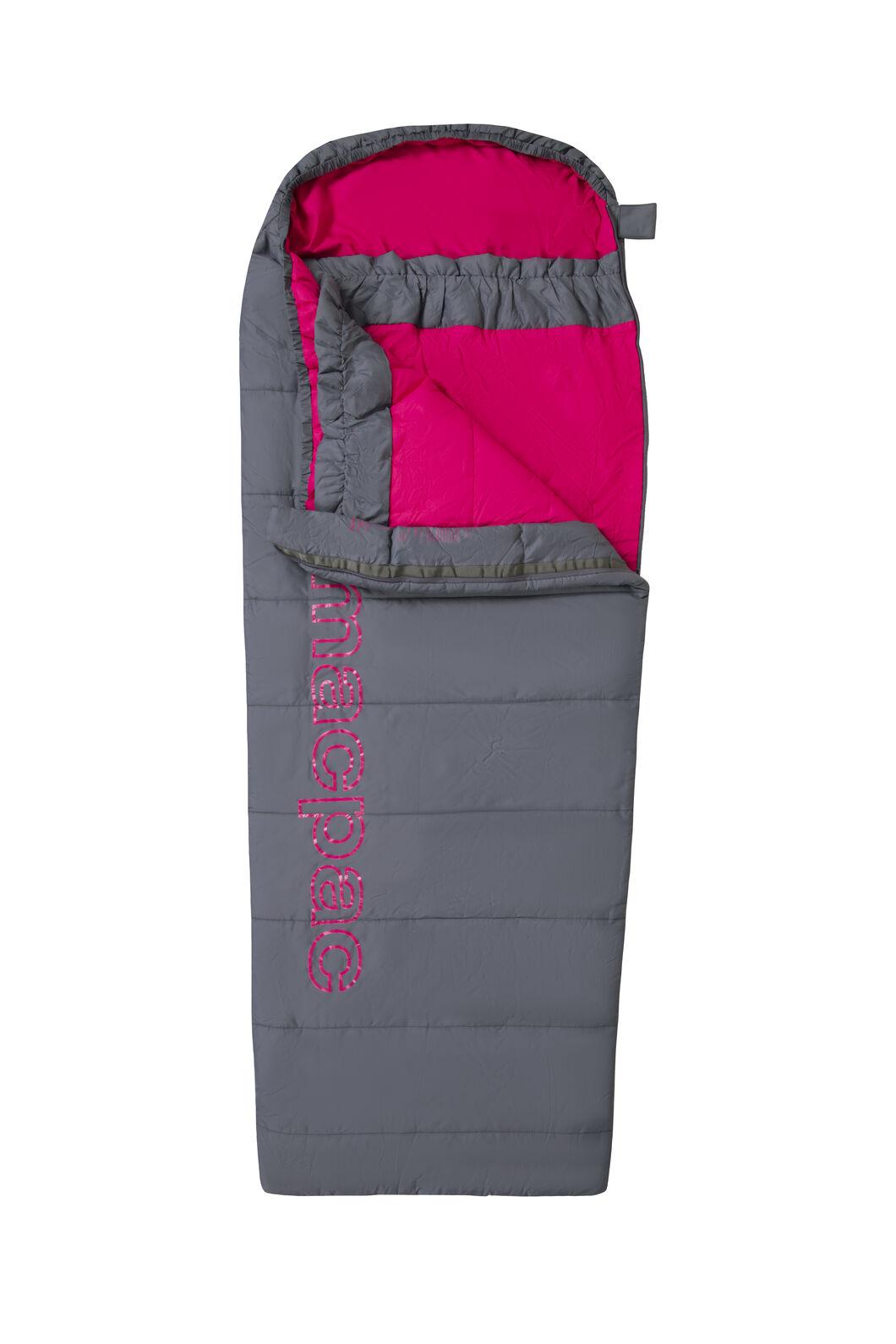 Macpac Roam 160 Sleeping Bag — Kids', Grisaille/Caberet, hi-res