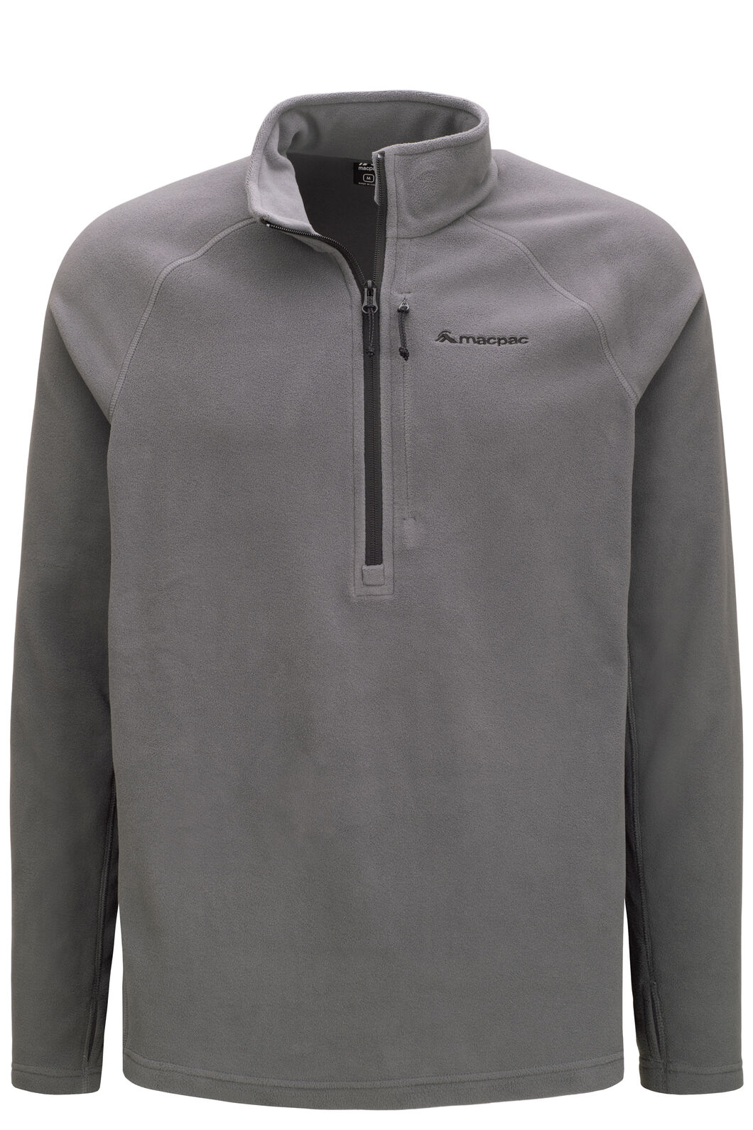 Macpac Tui Polartec® Micro Fleece® Pullover — Men's, Iron Gate/Black, hi-res