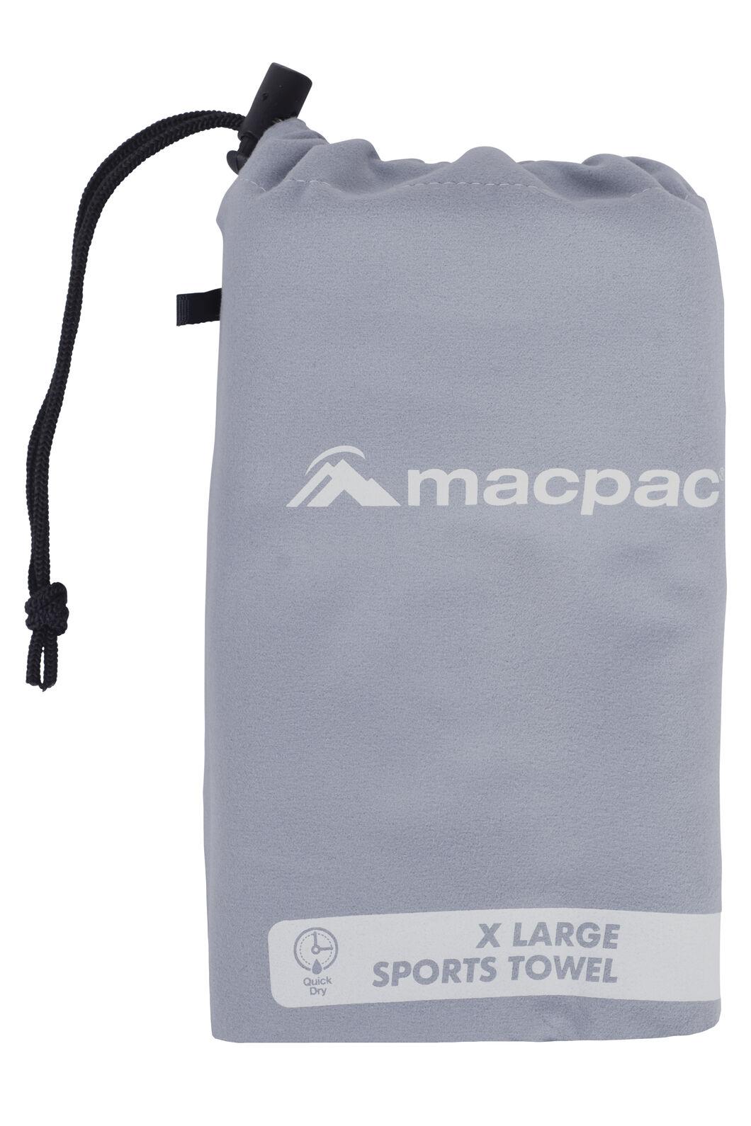 Macpac Sports Towel XL, Charcoal, hi-res