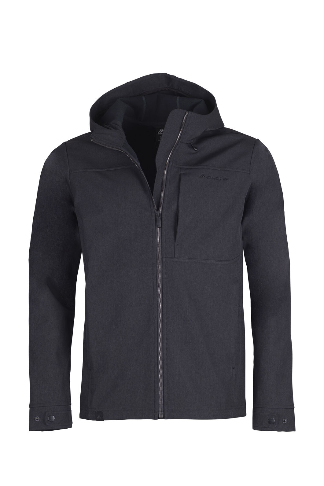 Macpac Chord Softshell Hooded Jacket — Men's, Black, hi-res