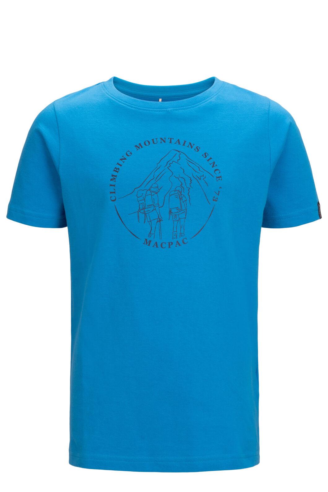 Macpac Kids' Since 1973 Fairtrade Organic Cotton Tee, Blue Aster, hi-res