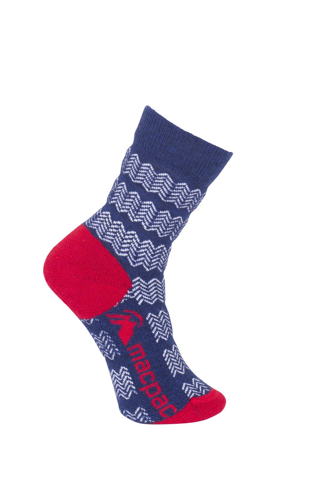 Macpac Footprint Socks Kids', Medieval/White, hi-res