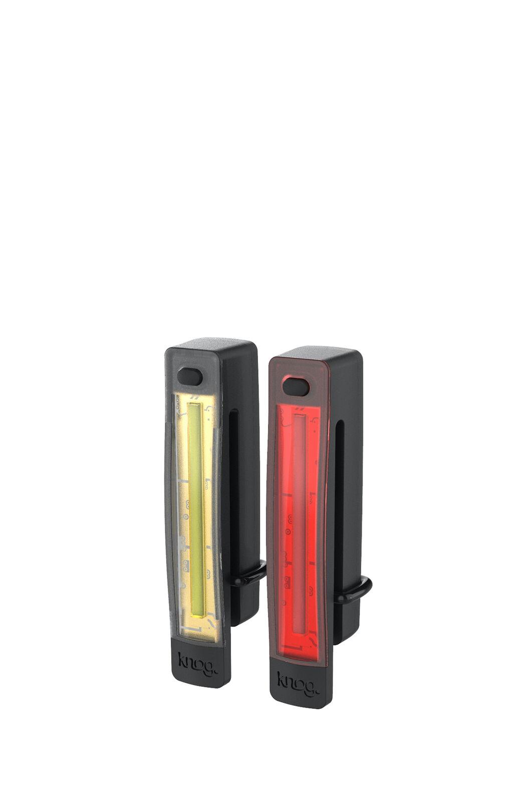 Knog Plus Free Twin Pack — Front/Rear Lights, Black, hi-res