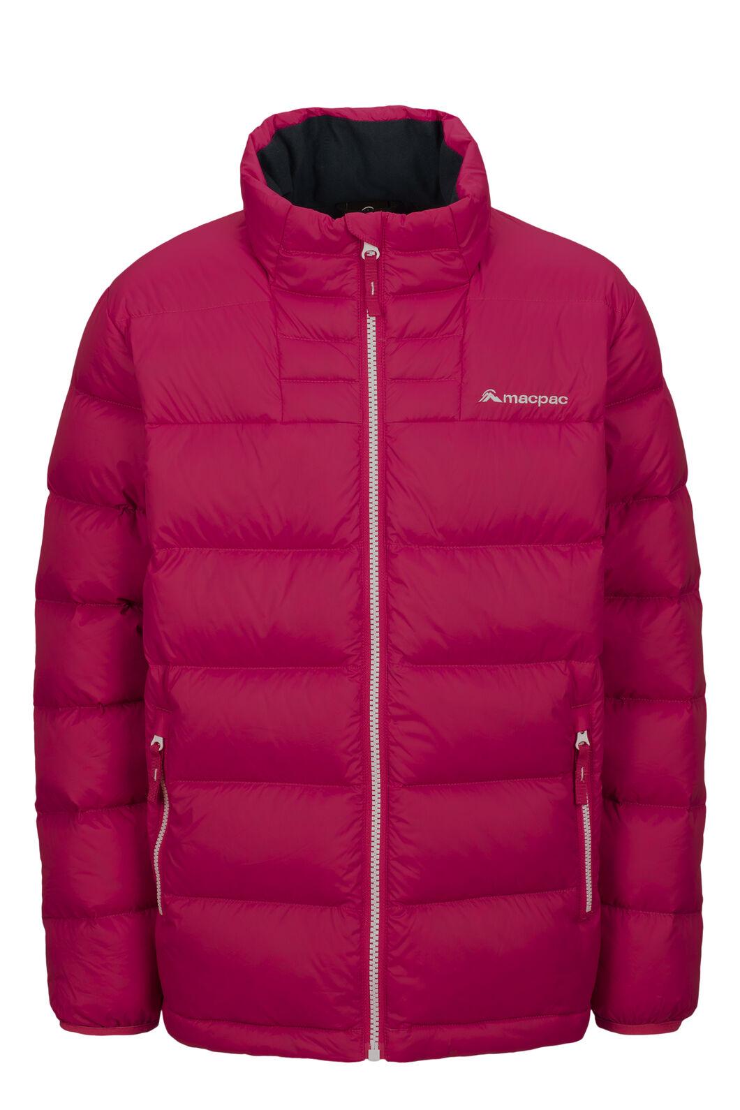 Macpac Atom Down Jacket — Kids', Raspberry Wine, hi-res