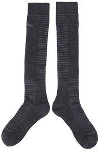 Macpac Merino Ski Socks, Charcoal Marle, hi-res