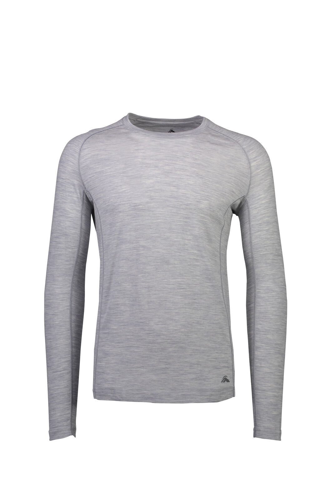 Macpac 150 Merino Long Sleeve Top - Men's, Light Grey Marle, hi-res