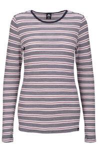 Macpac 220 Merino Long Sleeve Top — Women's, Cradle Pink Stripe, hi-res