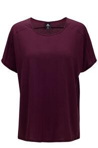 Macpac Women's Eva Short Sleeve Tee, Grape Wine, hi-res