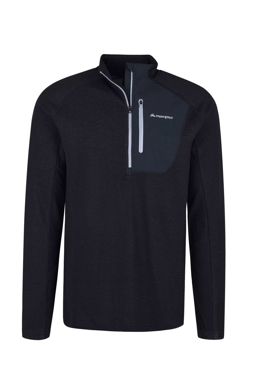 Macpac Lewis Pullover - Men's, Black, hi-res