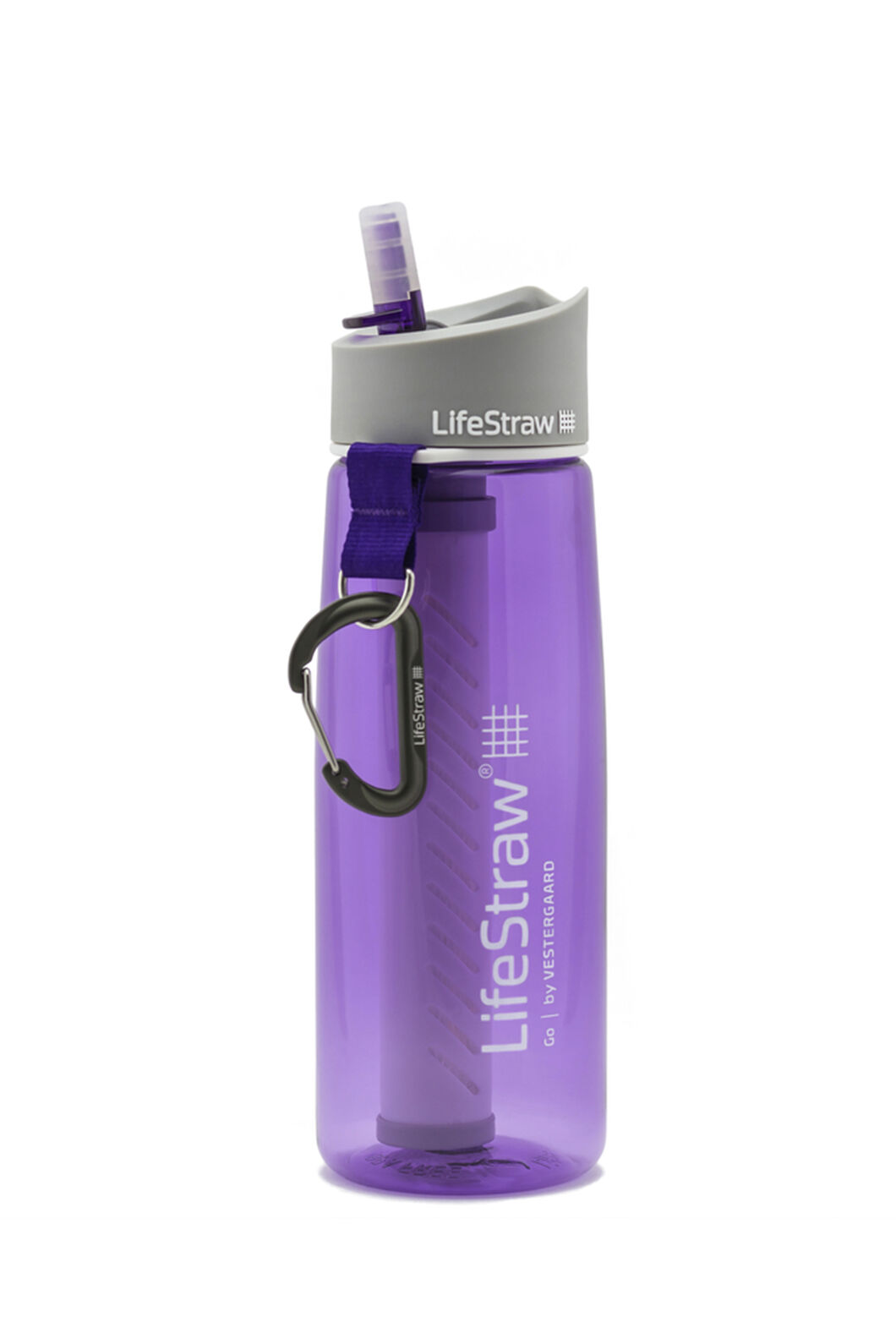 LifeStraw Go 2-Stage Filtration Water Bottle, Purple, hi-res