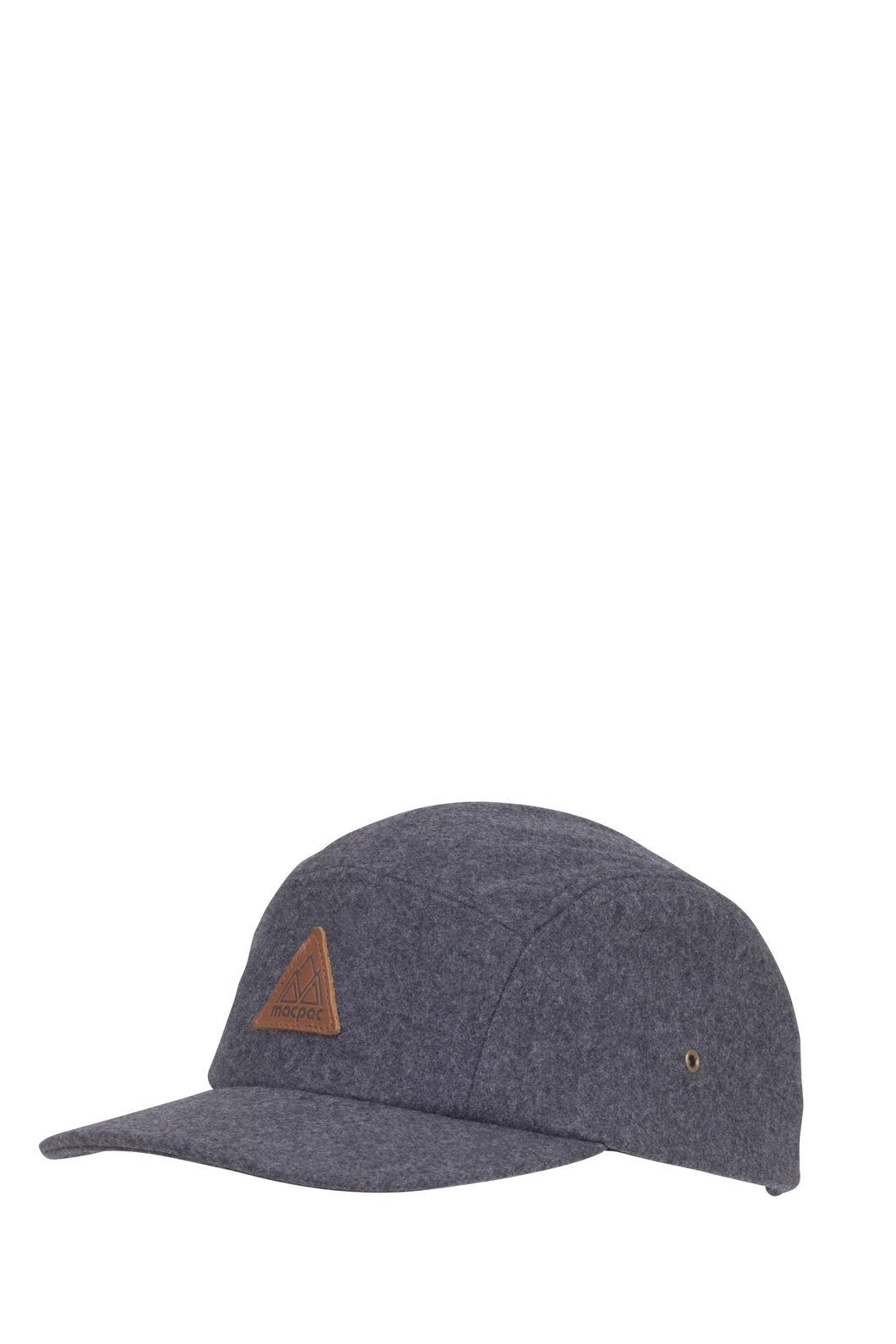 Macpac Wool Blend 5-Panel Hat, Grey, hi-res