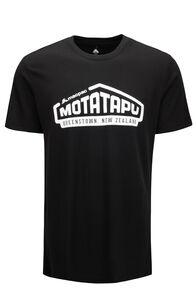 Macpac Men's Lyell 180 Merino Tee, Black Motatapu, hi-res