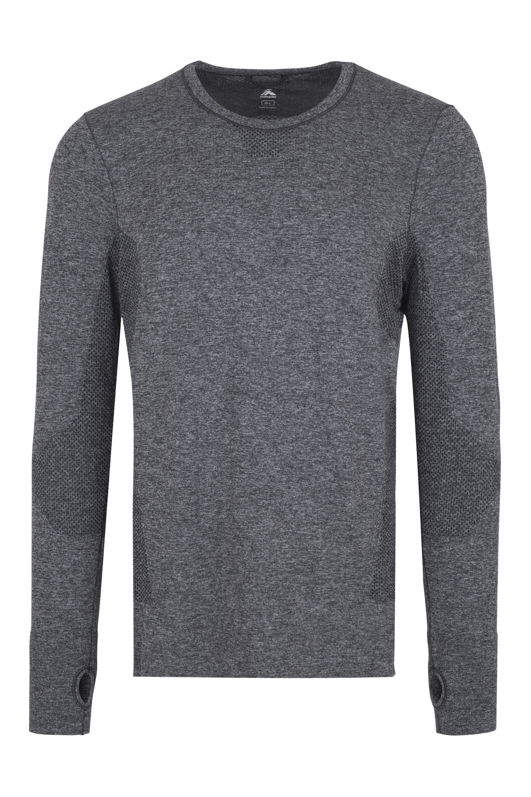 Macpac Limitless Long Sleeve Tee - Men's, Charcoal, hi-res