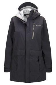 Macpac Copland Long Rain Jacket — Women's, Black, hi-res