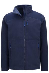 Macpac Men's Dunstan Fleece Jacket, Black Iris, hi-res