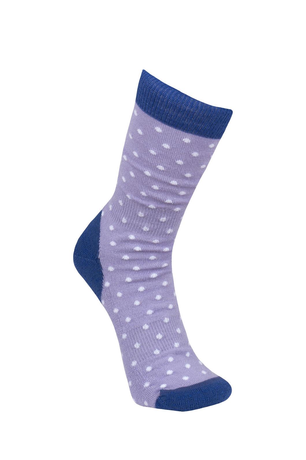 Macpac Footprint Socks Kids', Clematis/Sweet Lavendar, hi-res