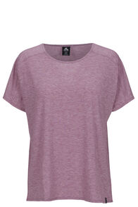 Macpac Eva Short Sleeve Tee — Women's, Tibetan Red Marle, hi-res