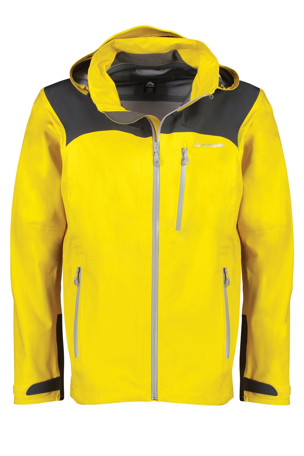 Macpac Traverse Pertex®Rain Jacket - Men's, Lemon Curry, hi-res