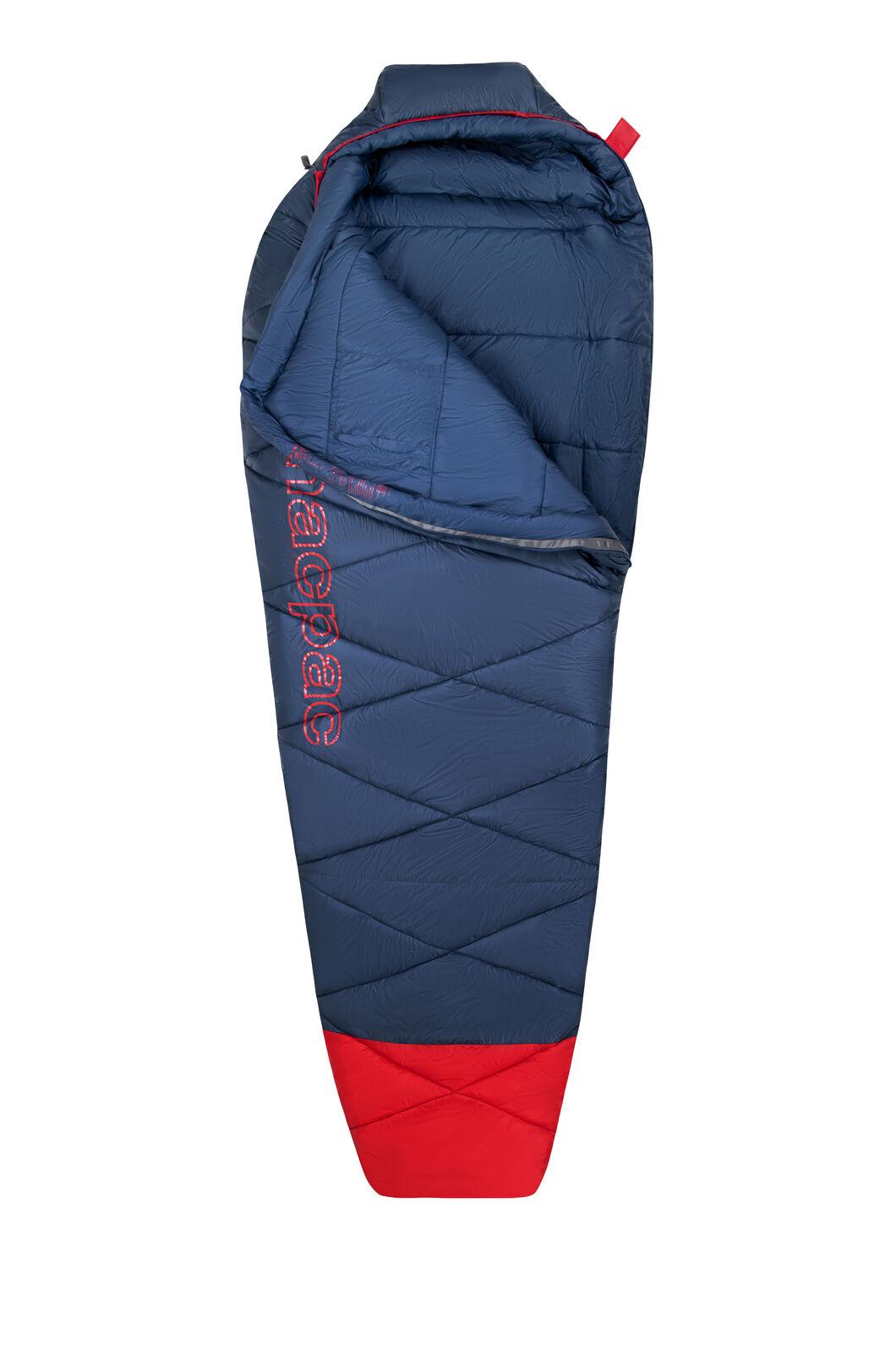 Macpac Aspire 360 Sleeping Bag — Standard, Blue Wing Teal/Salsa, hi-res