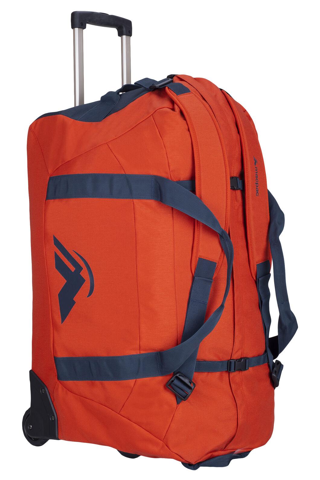 Macpac 120L Wheeled Duffel Bag, Pumpkin, hi-res
