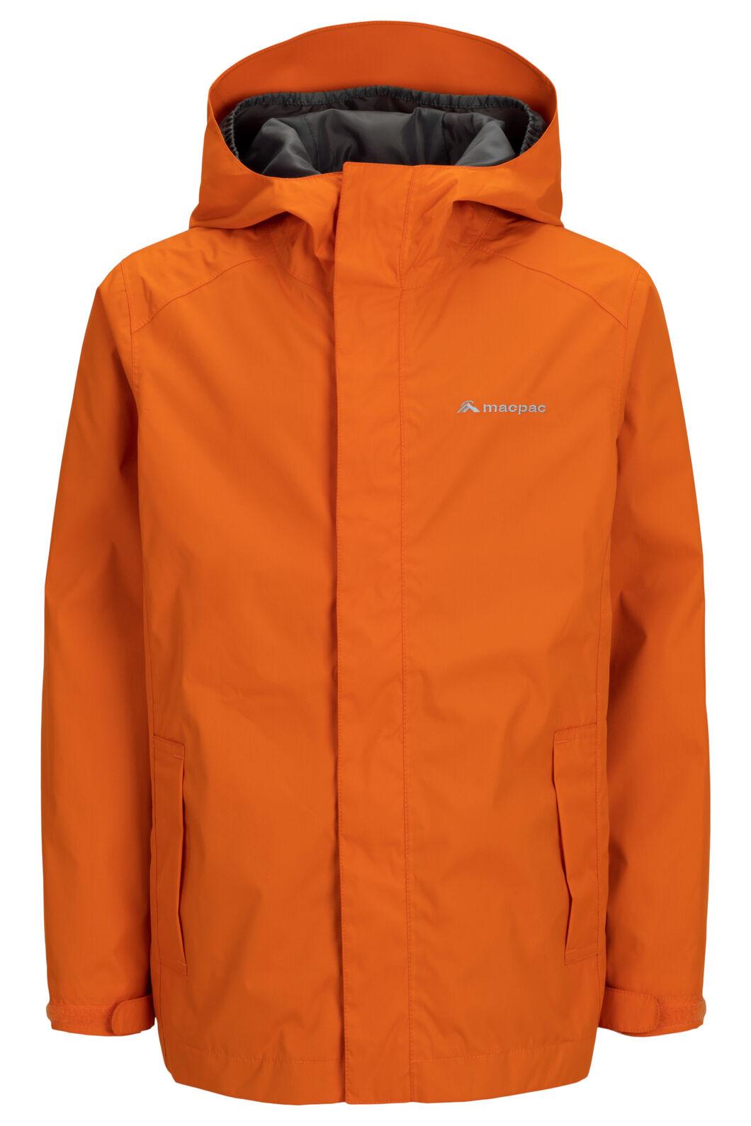 Macpac Kids' Jetstream Rain Jacket, Harvest Pumpkin, hi-res
