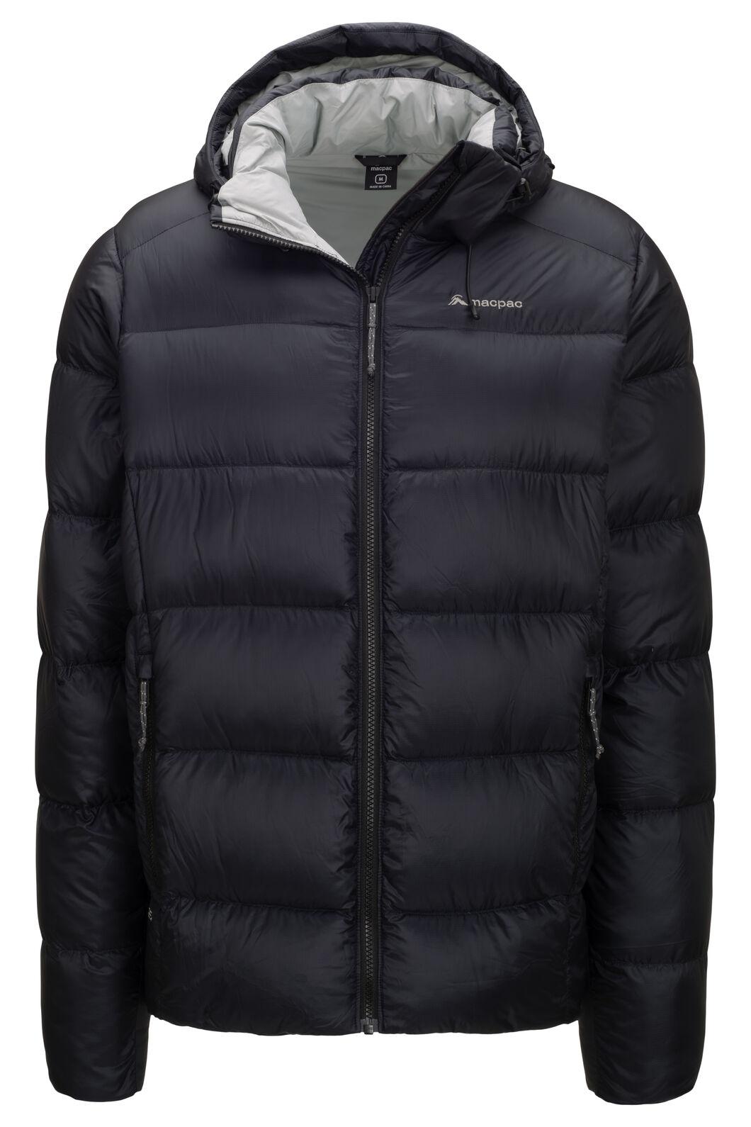 Macpac Men's Sundowner Pertex® Hooded Down Jacket, Black, hi-res