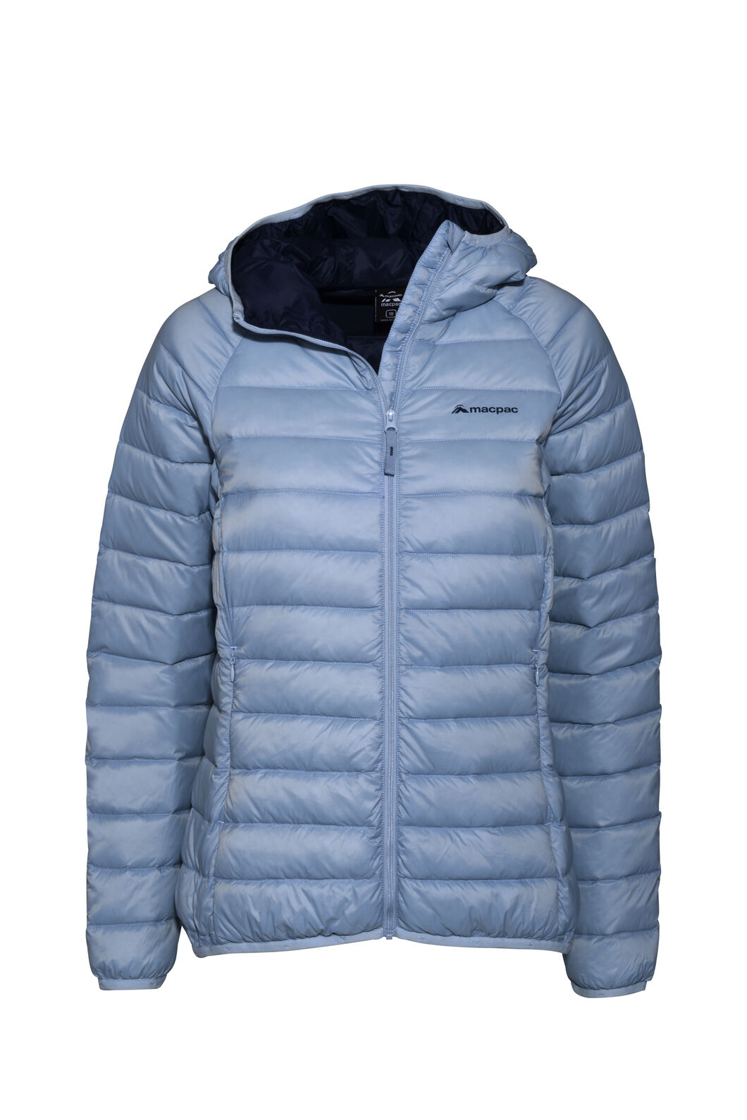 Macpac Uber Light Hooded Down Jacket — Women's, Blue Fog, hi-res