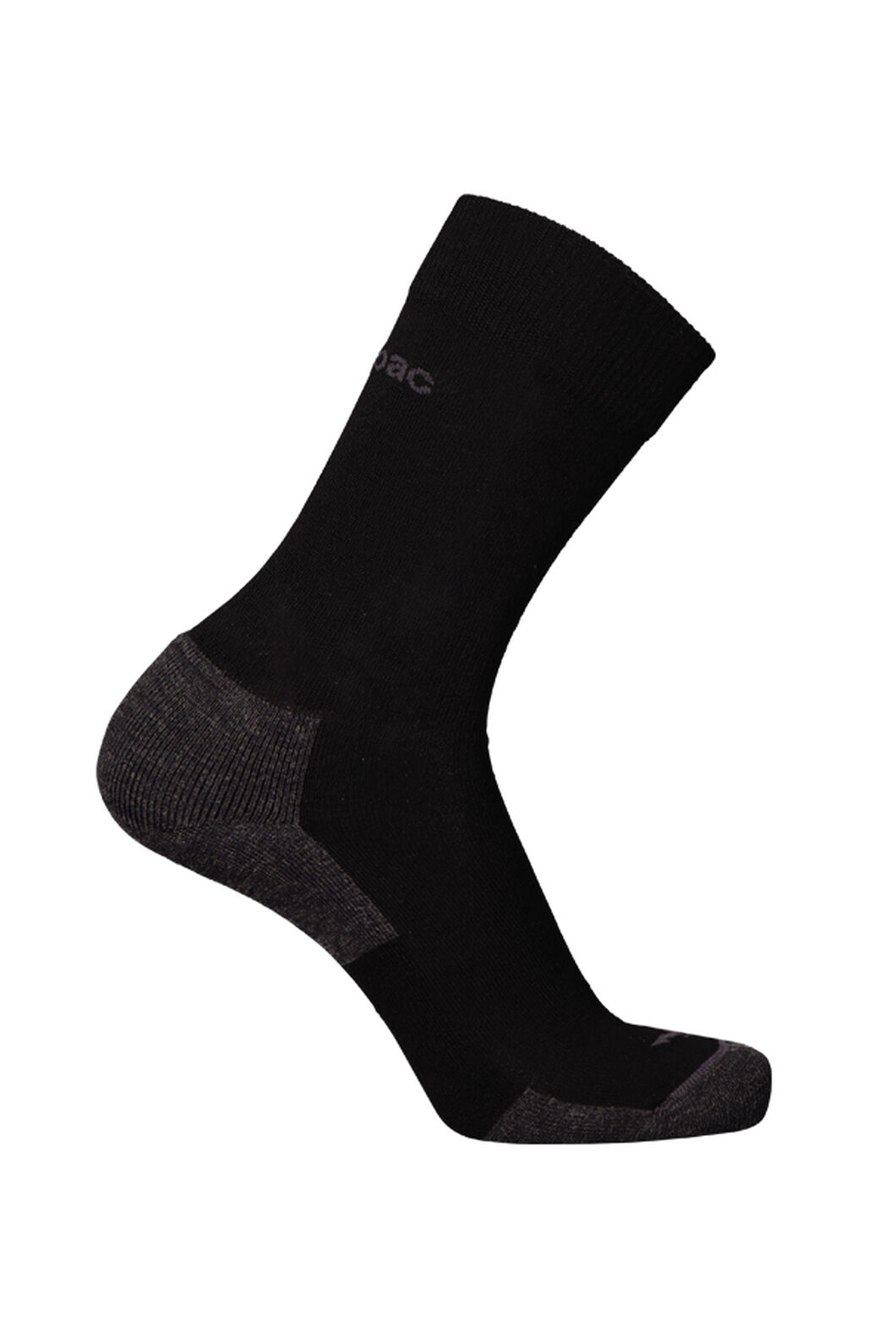 Macpac Merino Blend Footprint Socks, Black, hi-res