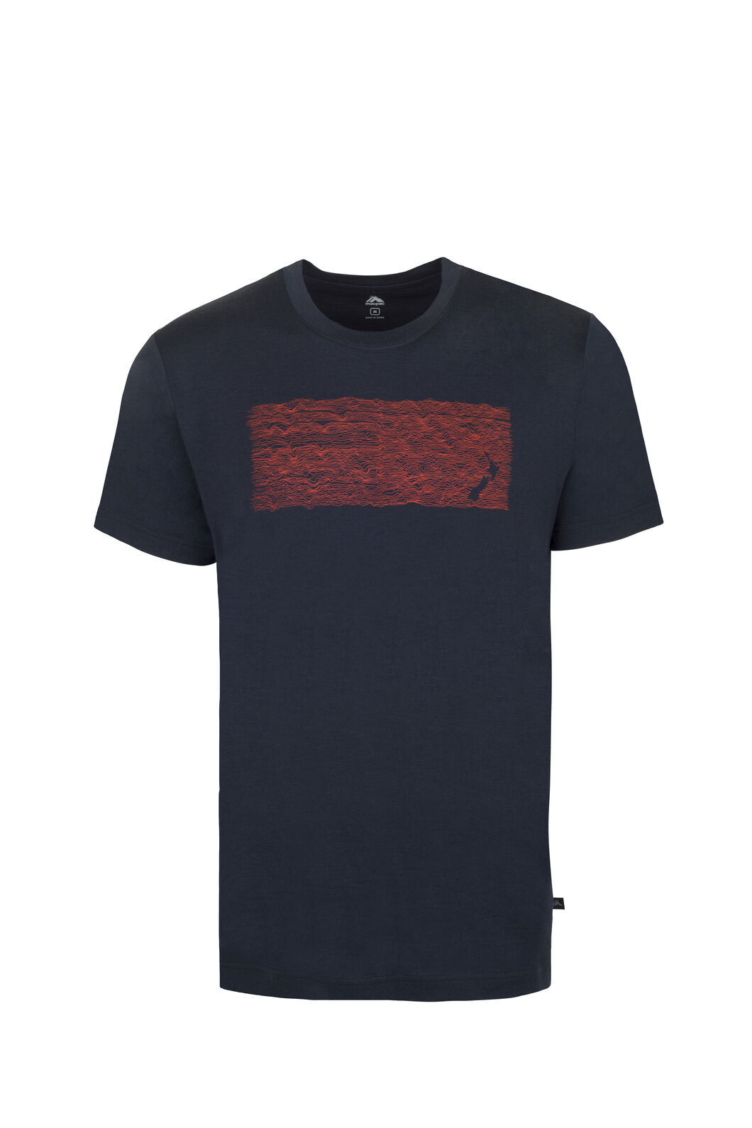Macpac Map Merino 180 Tee - Men's, Salute, hi-res