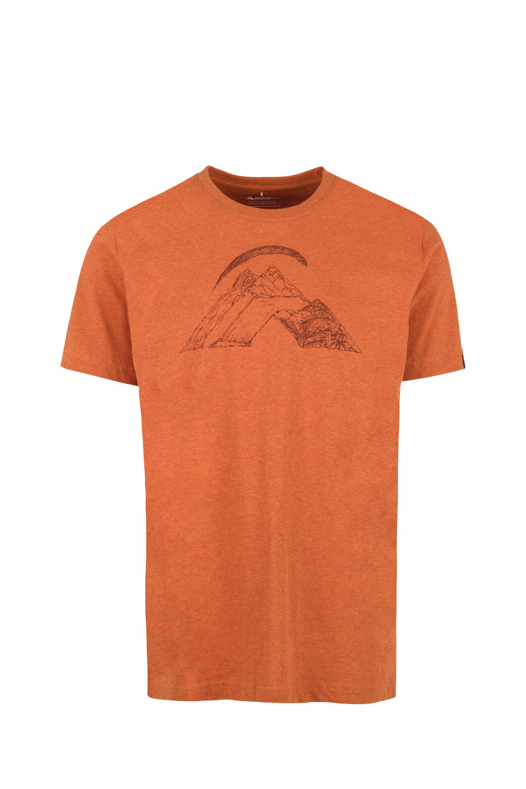 Macpac Nature Fairtrade Organic Cotton Tee — Men's, Burnt Orange, hi-res