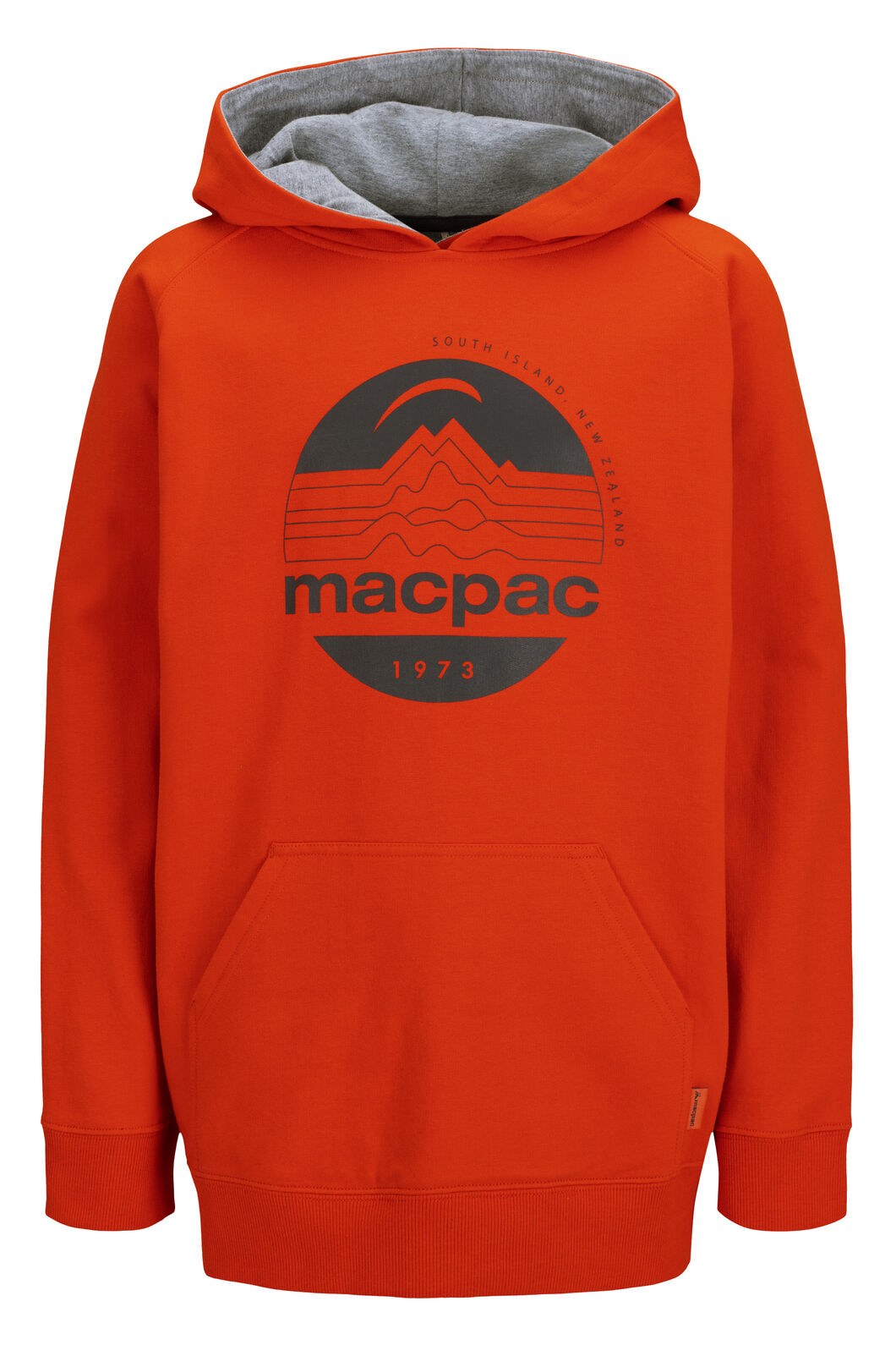 Macpac Fairtrade Organic Cotton Pullover Hoody — Kids' (V2), Pureed Pumpkin, hi-res