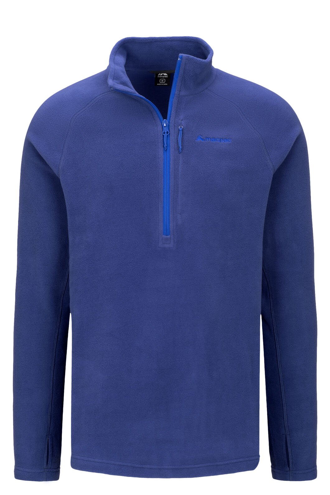 Macpac Tui Polartec® Micro Fleece® Pullover — Men's, Blueprint/Surf the web, hi-res