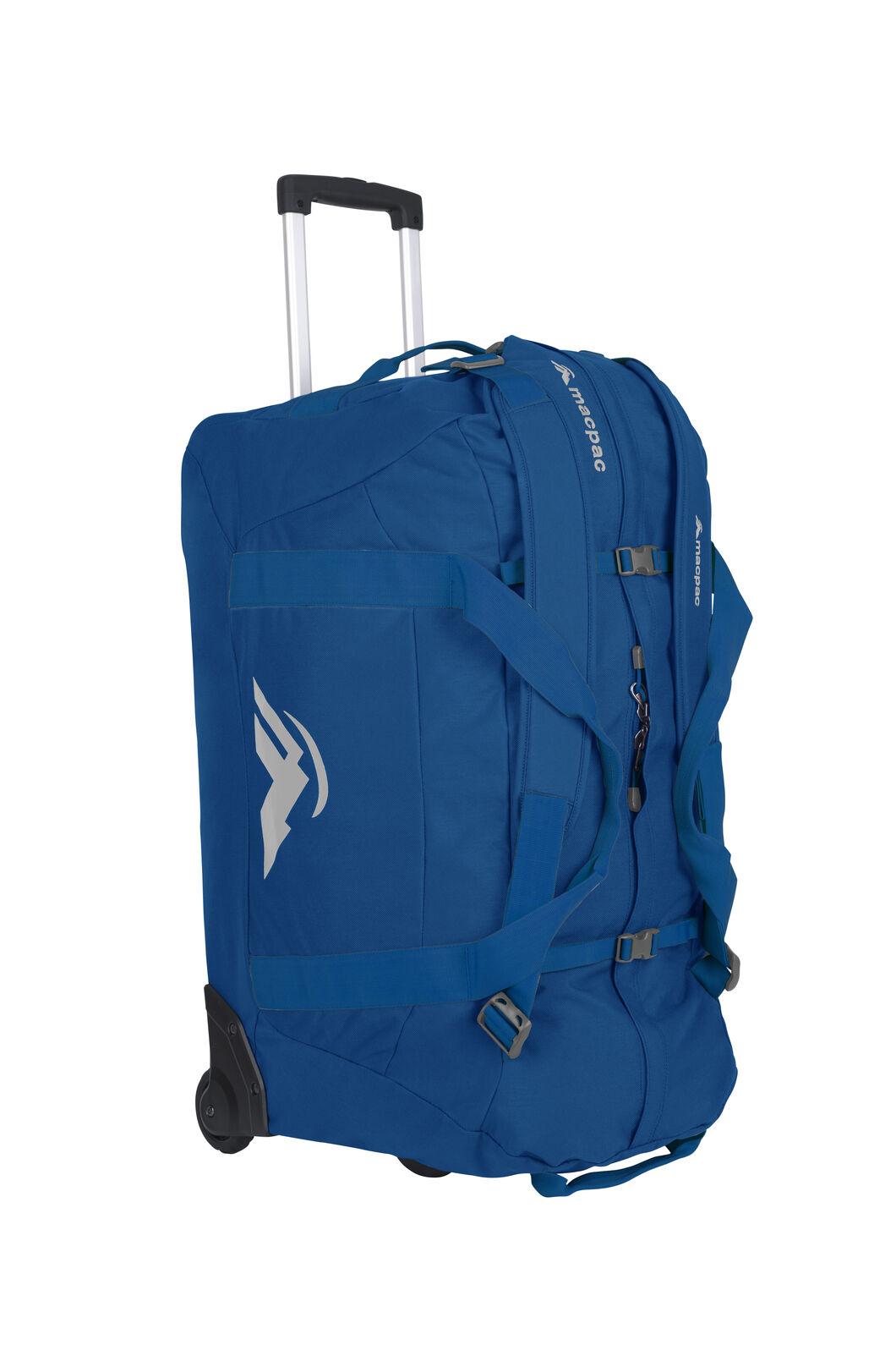 Macpac 120L Wheeled Duffel Bag, Victoria Blue, hi-res
